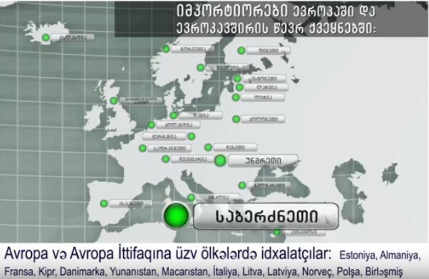 Gürcü şirkətləri Avropa və Avropa İttifaqına üzv ölkələrdə satırlar